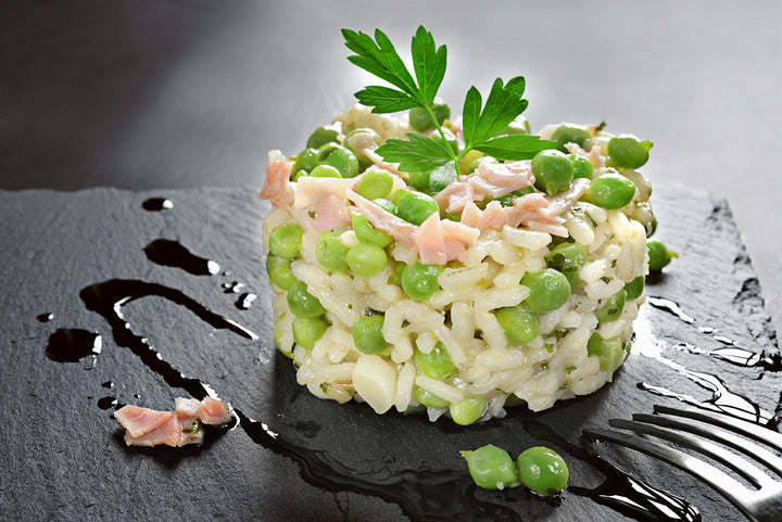 Adam's Original Salmon and Pea Risotto with Dill