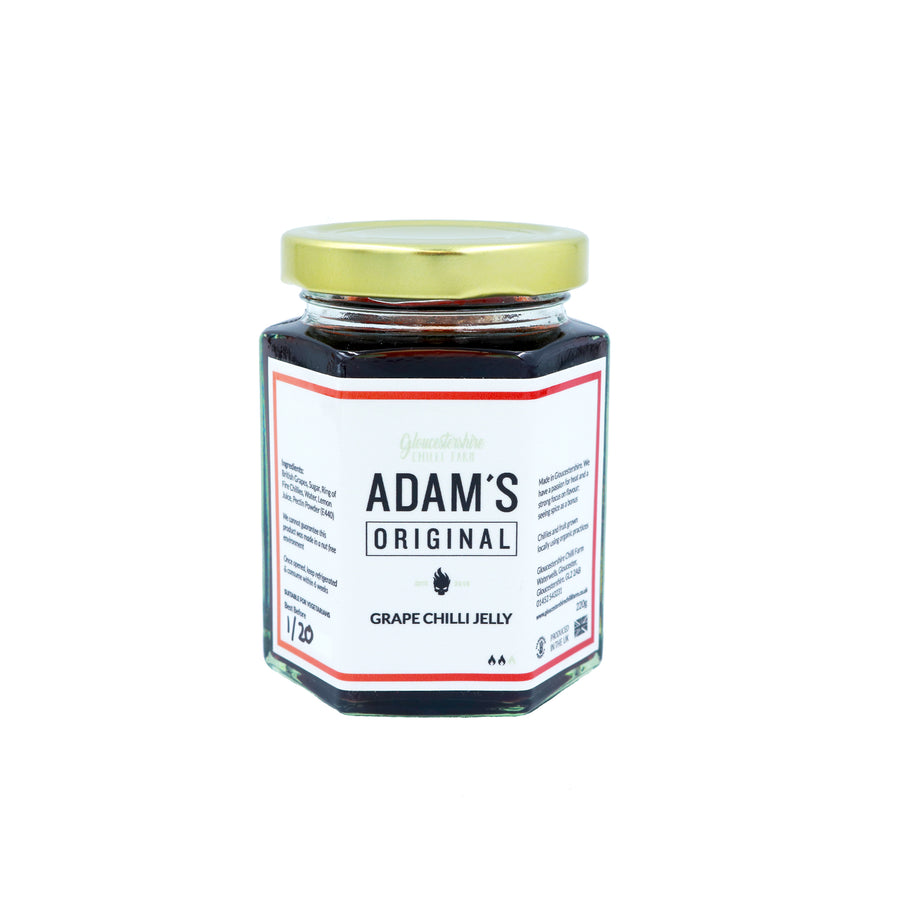 ADAM'S ORIGINAL GRAPE CHILLI JELLY (220G)