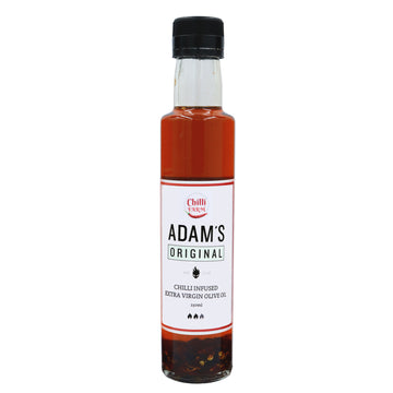 ADAM'S ORIGINAL CHILLI INFUSED EXTRA VIRGIN ORGANIC OLIVE OIL (250ML)