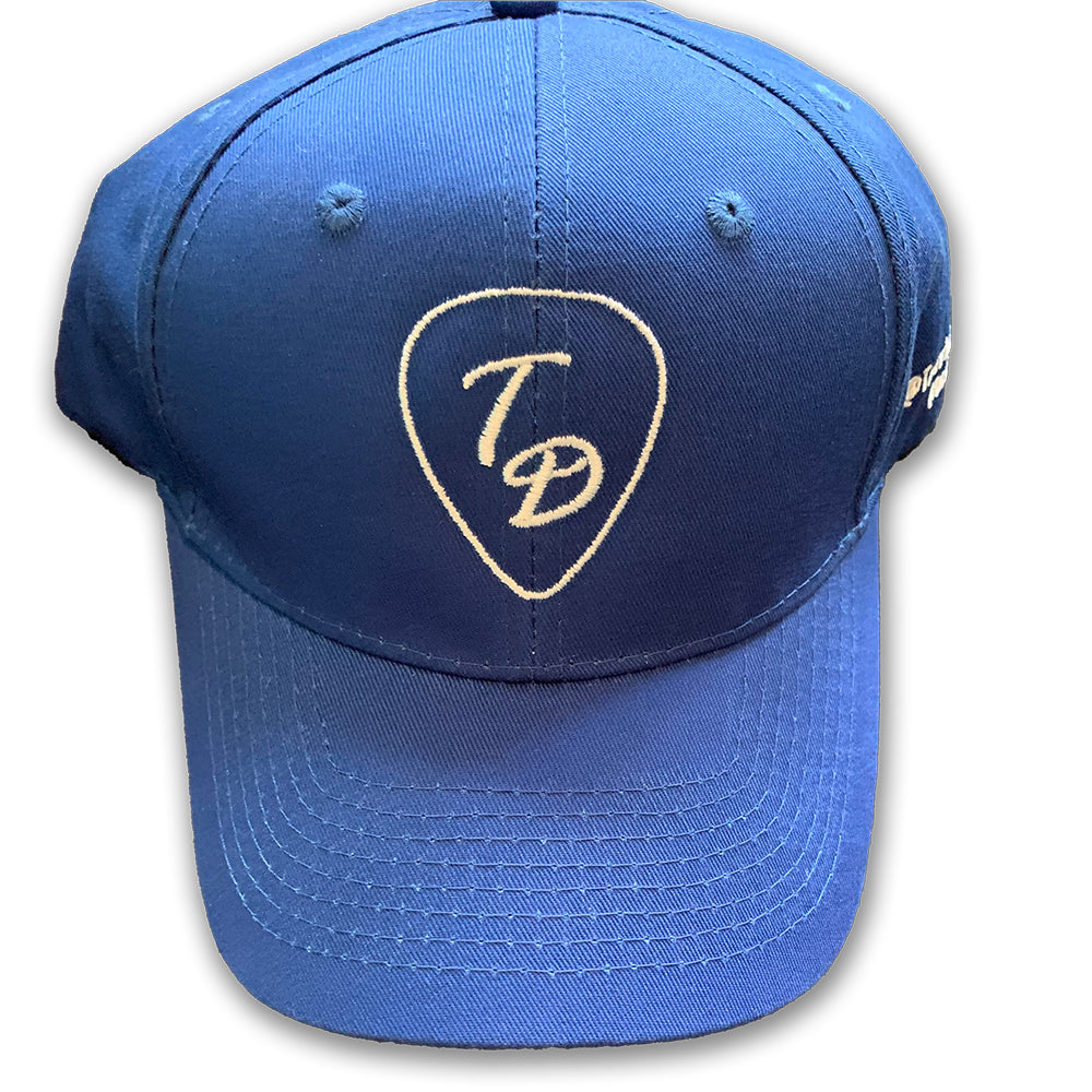 Travis Dolter Blue 'Guitar Pick' Baseball Cap, Baseball Cap, Travis Dolter Music - MerchHeaven.com