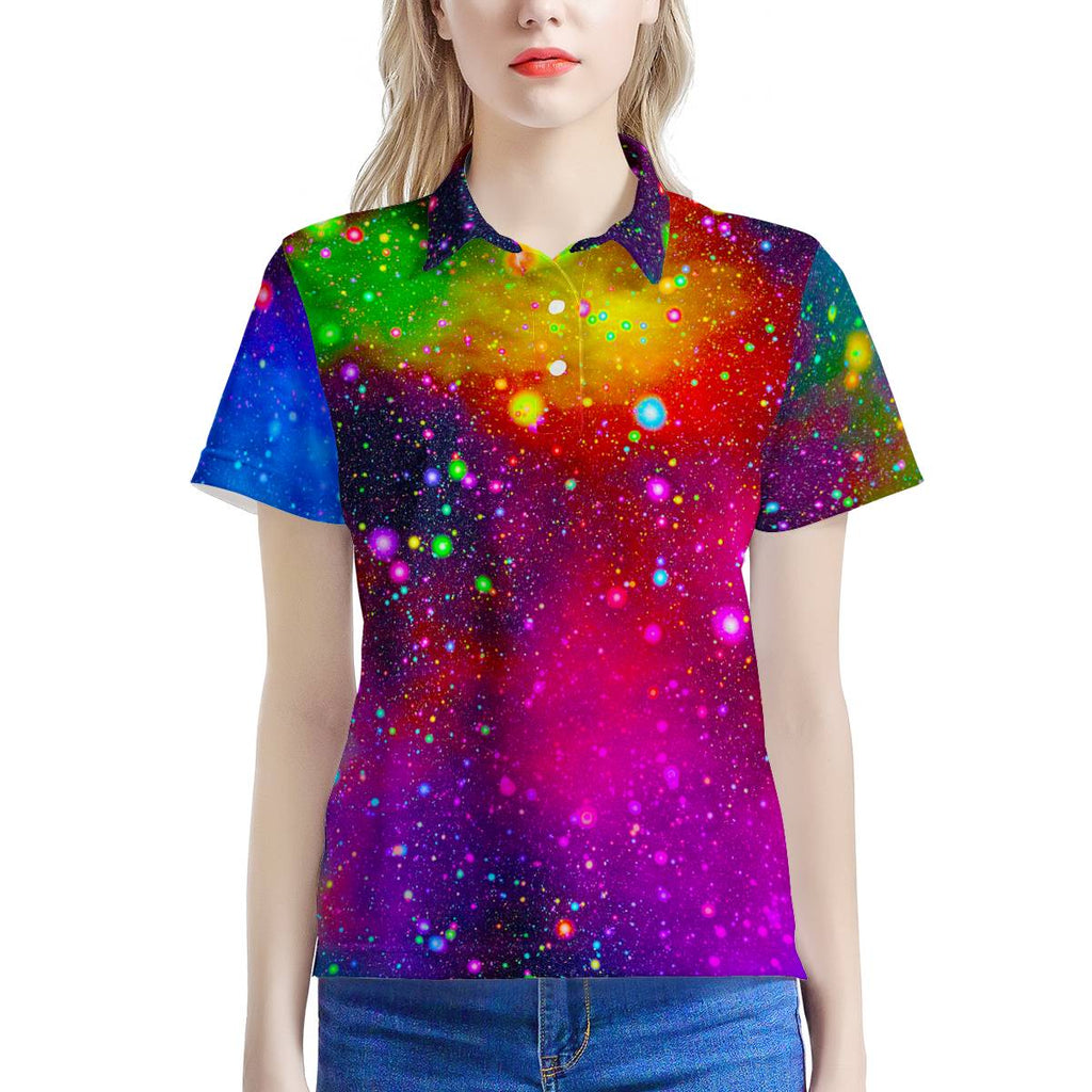 Heaven's Rainbow - Women's All Over Print Polo Shirt, Shirt, MerchHeaven - MerchHeaven.com