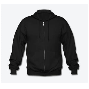 Travis Dolter - White Logo - Gildan Heavy Blend Adult Zip Hoodie