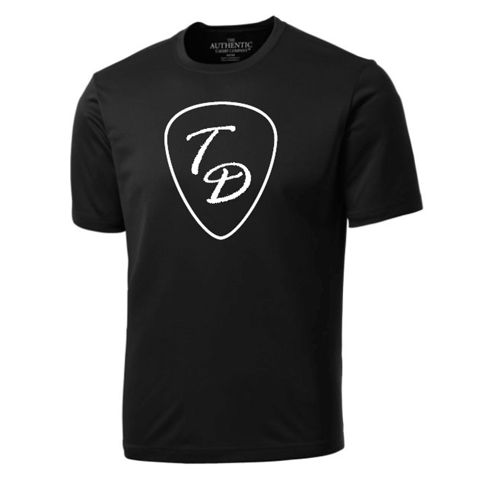 Travis Dolter Black 'Guitar Pick' T-Shirt, [product_type], Travis Dolter Music - MerchHeaven.com