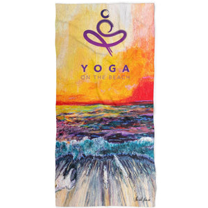 Towel - YOGA on the Beach - [variant_title] - MerchHeaven.com merchandise and Branding