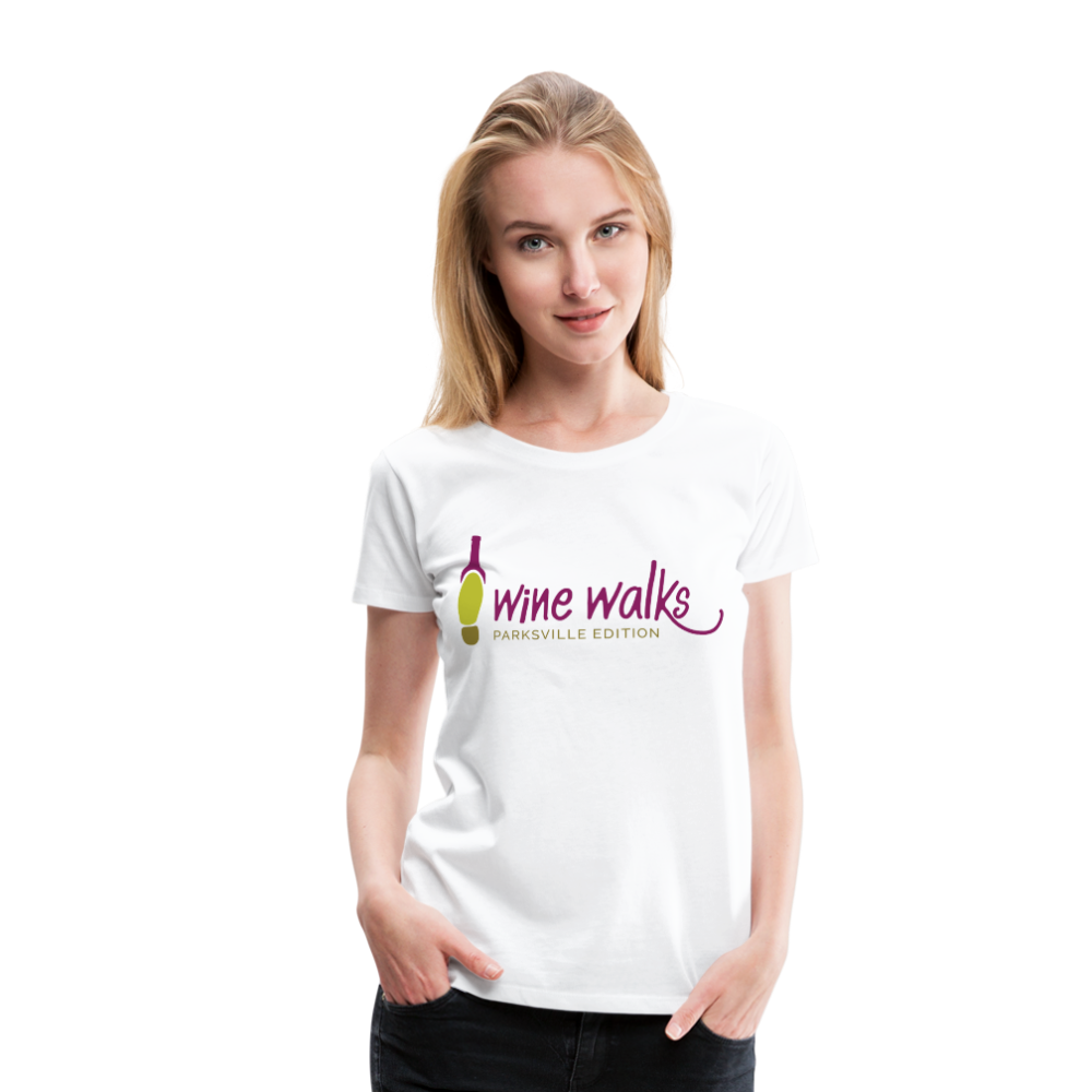 Wine Walks - Parksville Edition - Women's Premium T-Shirt, Shirt, Wine Walks - MerchHeaven.com