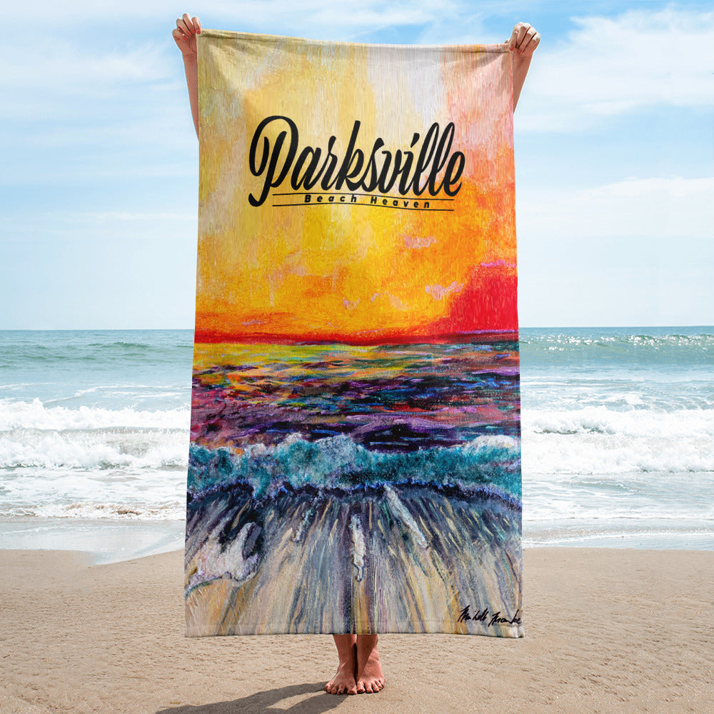 "Parksville ""Beach Heaven"" Towel by Michelle Manke, Towel, Michelle Manke - MerchHeaven.com"