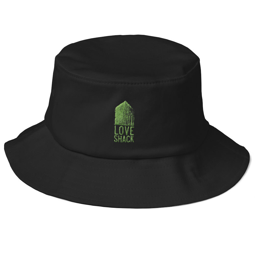 Love Shack Libations - Green Embroidered - Old School Bucket Hat - Flexfit 5003, Hat, Love Shack Libations - MerchHeaven.com