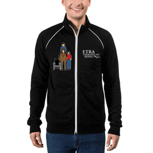 ETRA Therapeutic Riding Association - Piped Fleece Jacket with design on front, Jacket, ETRA - MerchHeaven.com