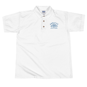 Arbutus Distillery Embroidered Gildan Polo Shirt (Ringspun cotton), Shirt, Arbutus Distillery - MerchHeaven.com