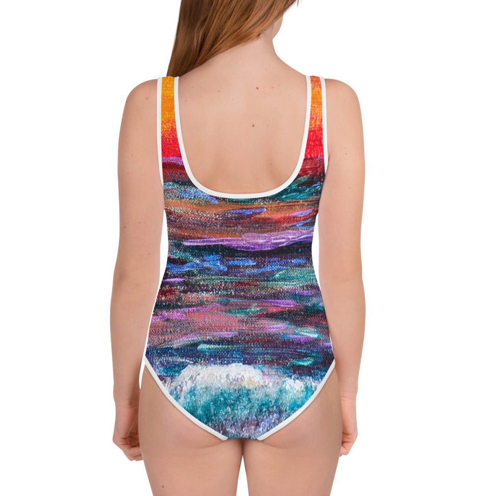 'All Creation Sings' All-Over Print Youth Swimsuit, Swimwear, Michelle Manke - MerchHeaven.com
