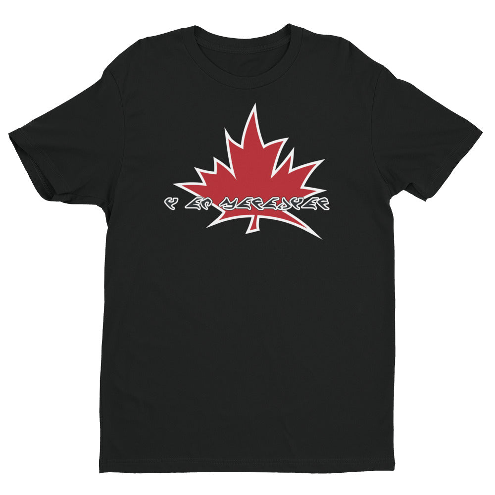 I Am Canadian' in Klingon Language - Premium Fitted Short Sleeve Crew, Shirt, I Am Canadian - MerchHeaven.com