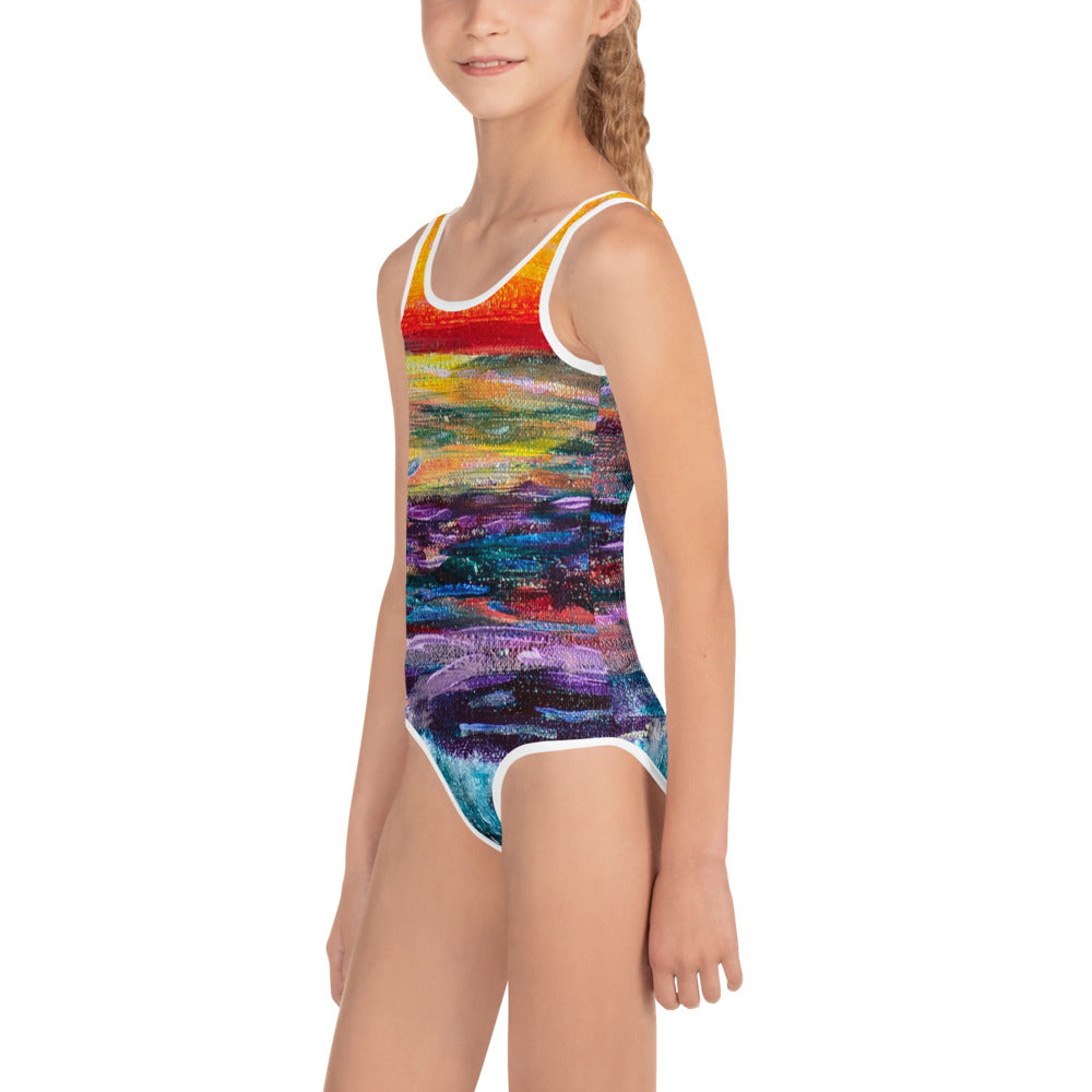 'All Creation Sings' All-Over Print Kids Swimsuit, Swimwear, Michelle Manke - MerchHeaven.com