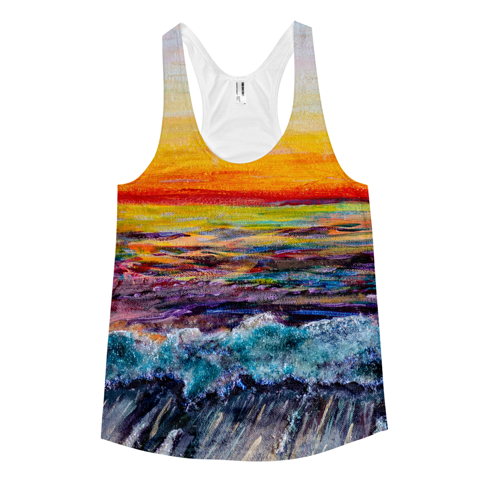 'All Creation Sings'  - Women's racerback tank, Shirt, Michelle Manke - MerchHeaven.com