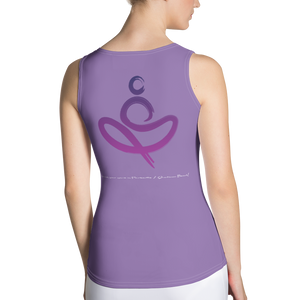 Yoga on the Beach (YOTB) - Purple - Sublimation Cut & Sew Tank Top, Shirt, YOGA on the Beach - MerchHeaven.com