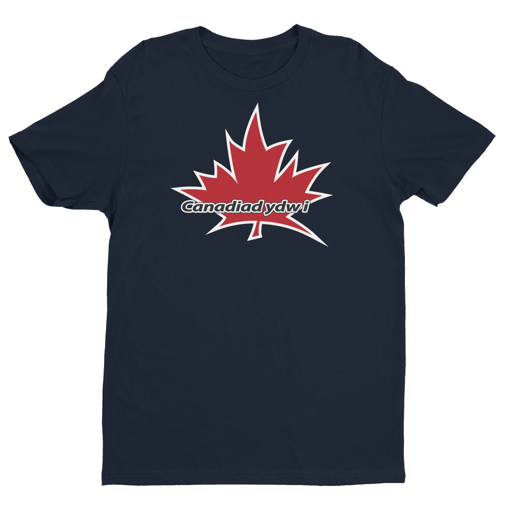 I Am Canadian' 'Canadiad ydw i' - Premium Fitted Short Sleeve Crew (Welsh), Shirt, I Am Canadian - MerchHeaven.com