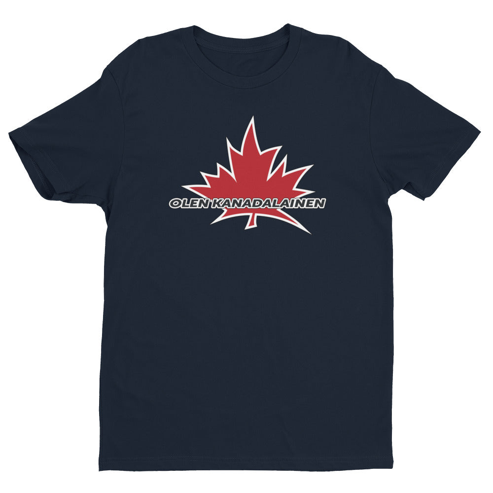I Am Canadian' 'olen kanadalainen' - Premium Fitted Short Sleeve Crew (Finnish), Shirt, I Am Canadian - MerchHeaven.com