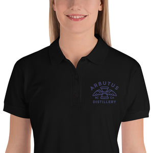 Arbutus Distillery - Blue Logo - Gildan 82800L Embroidered Women's Polo Shirt, Hoodie, Arbutus Distillery - MerchHeaven.com