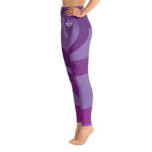 Yoga on the Beach (YOTB) - Purple - Yoga Leggings with waistband, Leggings, YOGA on the Beach - MerchHeaven.com
