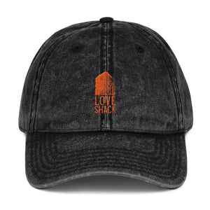 Love Shack Libations - Orange Embroidered - Vintage Cotton Twill Otto Cap, Hat, Love Shack Libations - MerchHeaven.com