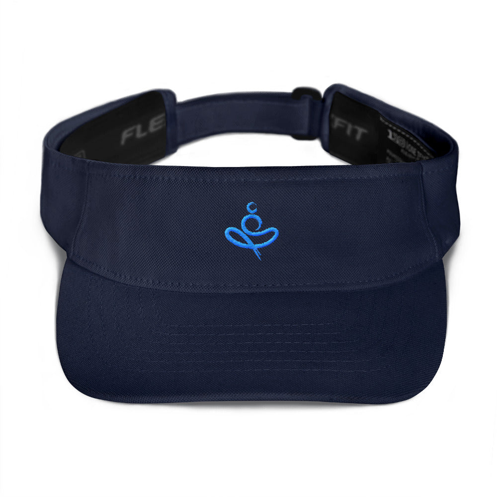 Yoga on the Beach (YOTB) Visor - Aqua/Teal Embroidery, Visor, YOGA on the Beach - MerchHeaven.com
