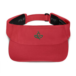 Visor - YOGA on the Beach - Red - MerchHeaven.com merchandise and Branding