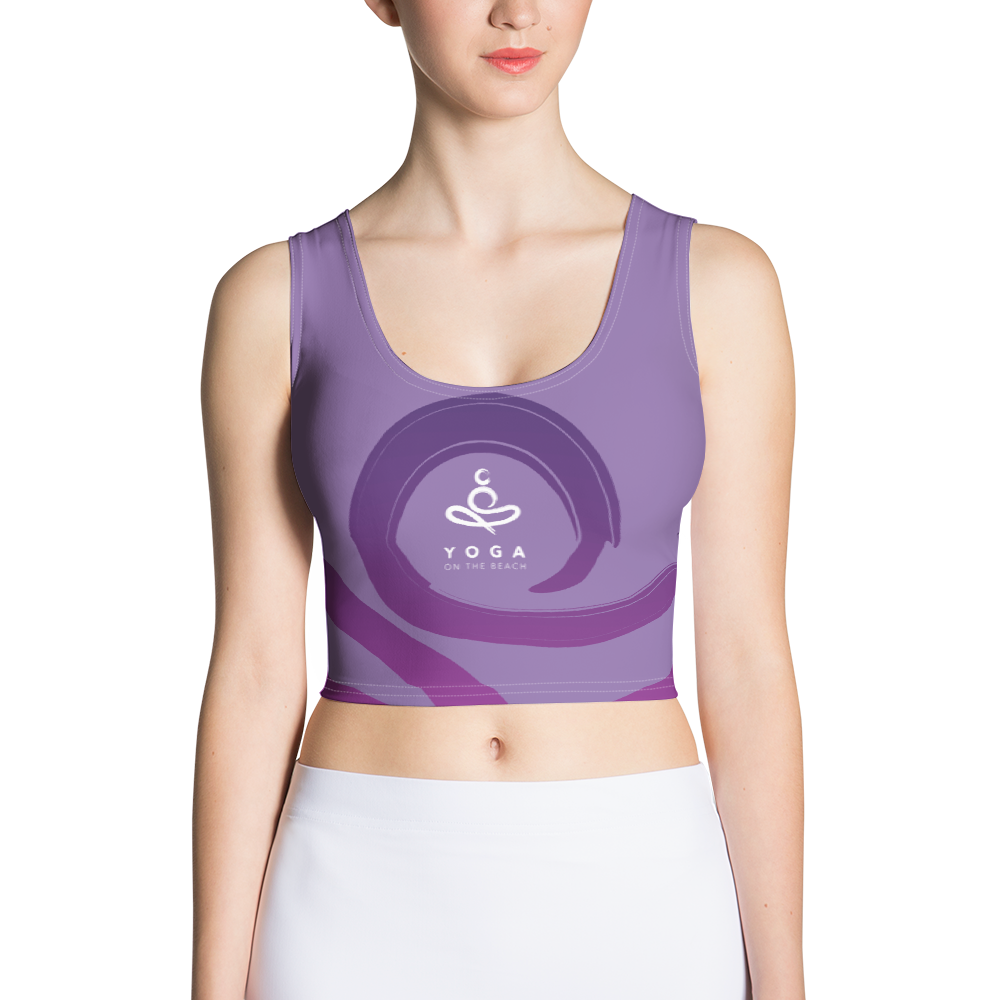 Yoga on the Beach (YOTB) - Purple - Sublimation Cut & Sew Crop Top, Shirt, YOGA on the Beach - MerchHeaven.com