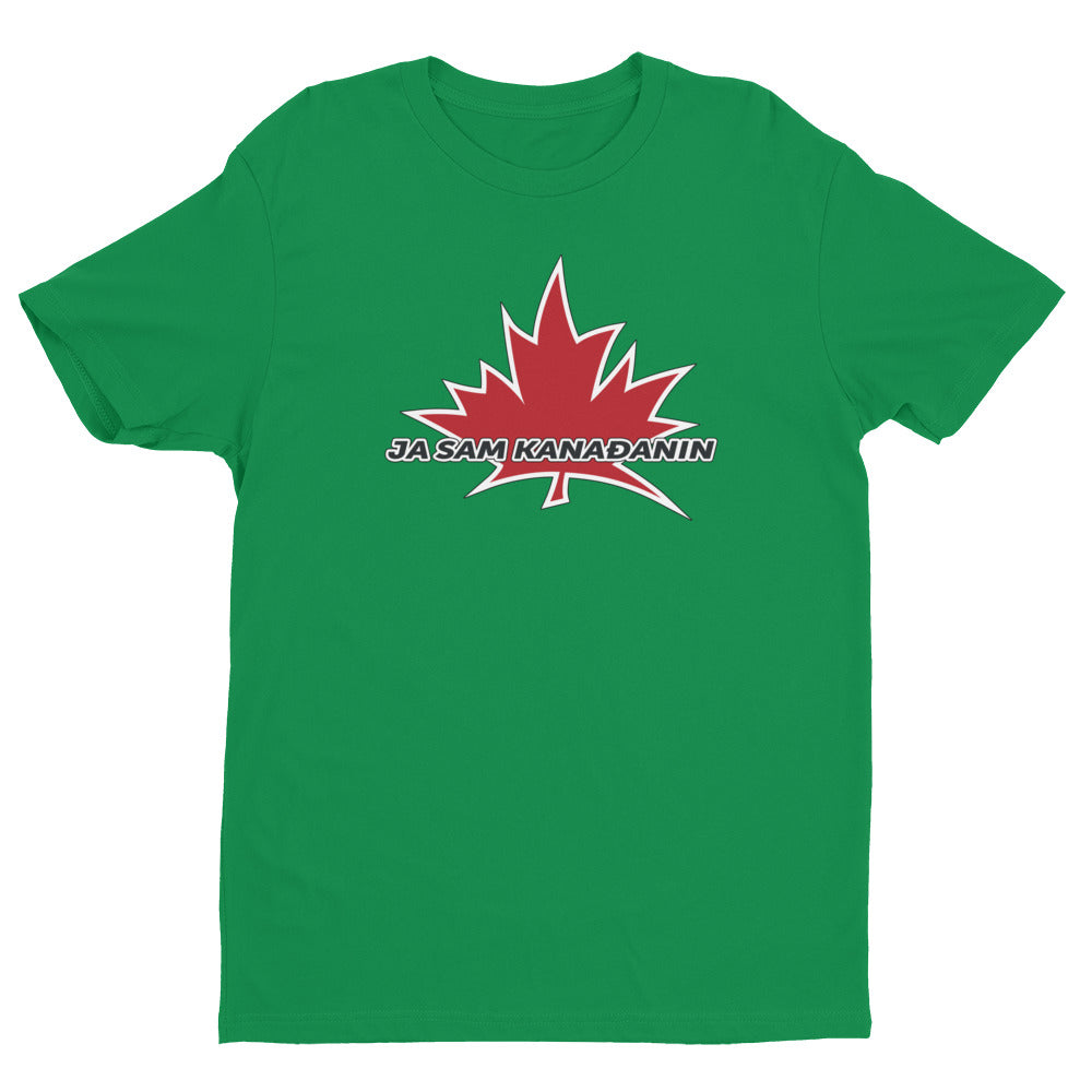 I Am Canadian' 'Ja sam Kanađanin' - Premium Fitted Short Sleeve Crew (Bosnian), Shirt, I Am Canadian - MerchHeaven.com