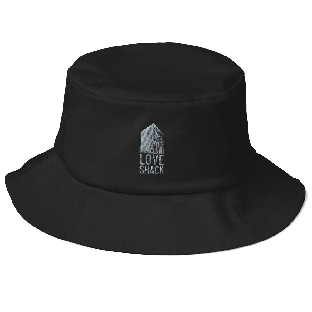 Love Shack Libations - Grey Embroidered - Old School Bucket Hat - Flexfit 5003, Hat, Love Shack Libations - MerchHeaven.com