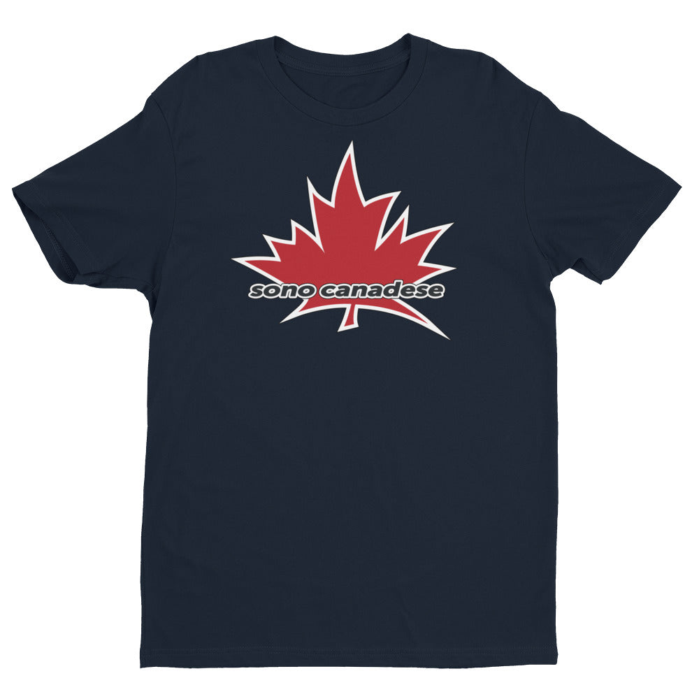 I Am Canadian' 'sono canadese' - Premium Fitted Short Sleeve Crew (Italian), Shirt, I Am Canadian - MerchHeaven.com