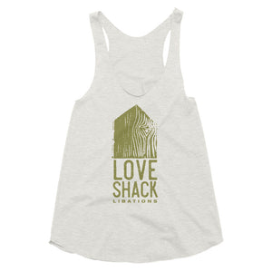 Love Shack Libations - American Apparel TR308W Women's Tri-Blend Racerback Tank, Shirt, Love Shack Libations - MerchHeaven.com