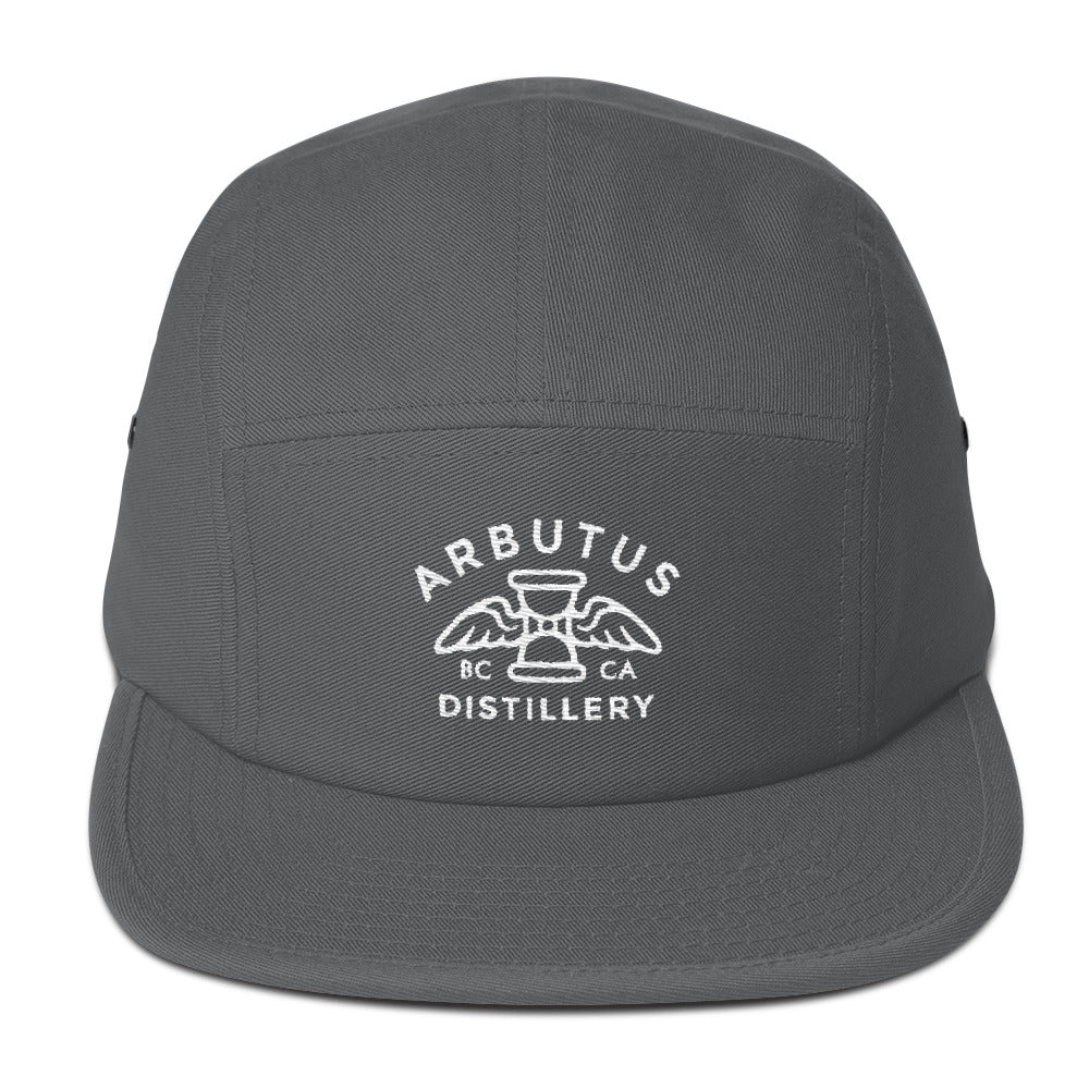 Arbutus Distillery - White Embroidered Otto Cap 151-1098 - Cotton 5Panel Camper, Hat, Arbutus Distillery - MerchHeaven.com