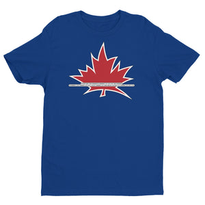 I Am Canadian' in Binary Language - Premium Fitted Short Sleeve Crew, Shirt, I Am Canadian - MerchHeaven.com
