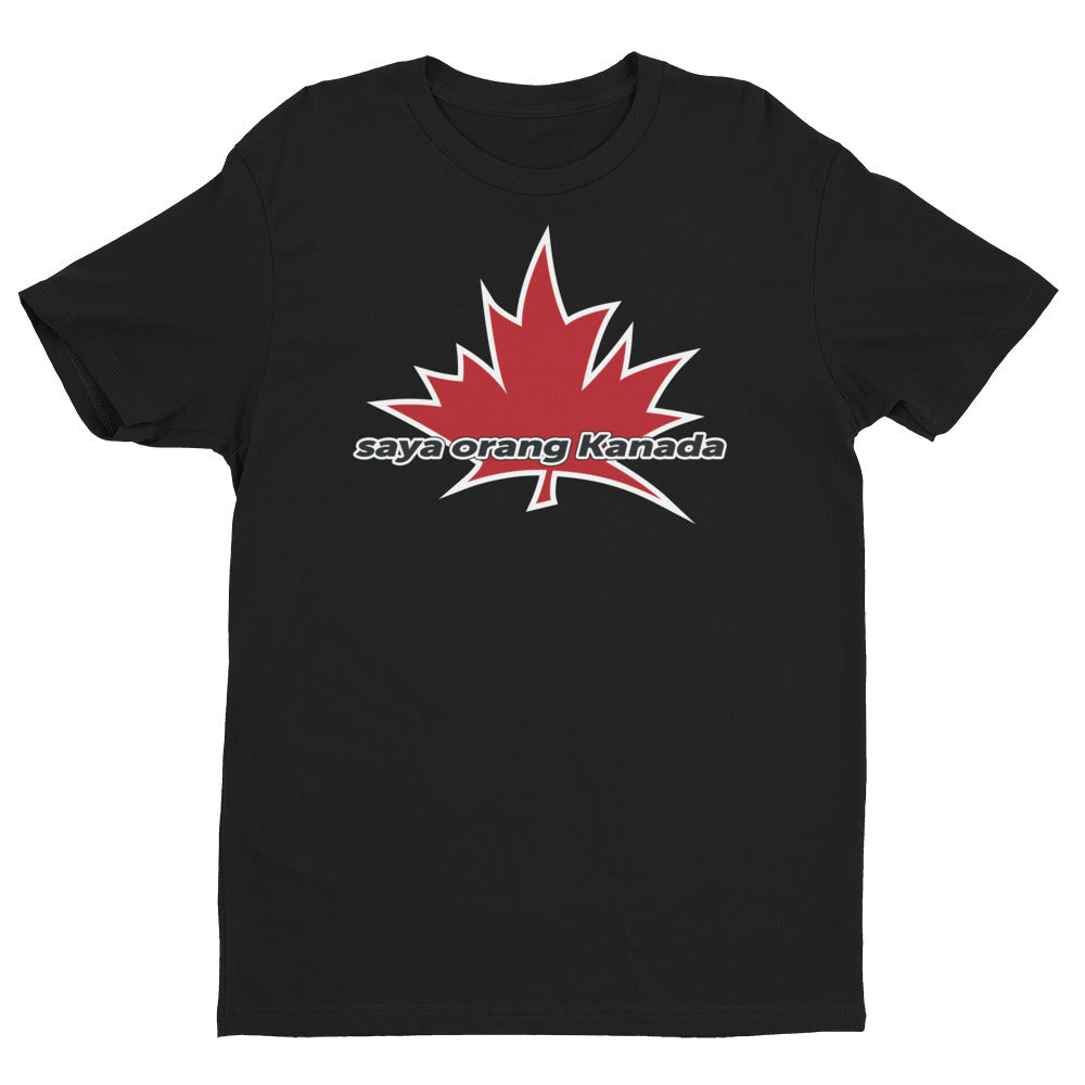 I Am Canadian' 'saya orang Kanada' - Premium Fitted Short Sleeve Crew (Indonesian), Shirt, I Am Canadian - MerchHeaven.com