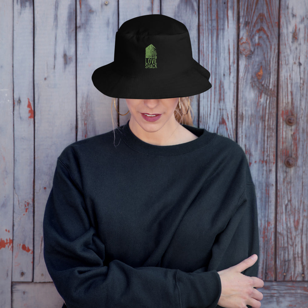 Love Shack Libations - Green Embroidered Bucket Hat, Hat, Love Shack Libations - MerchHeaven.com