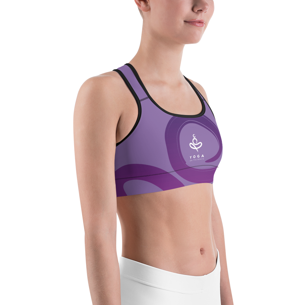 Yoga on the Beach (YOTB) - Purple - Sports Bra, Shirt, YOGA on the Beach - MerchHeaven.com