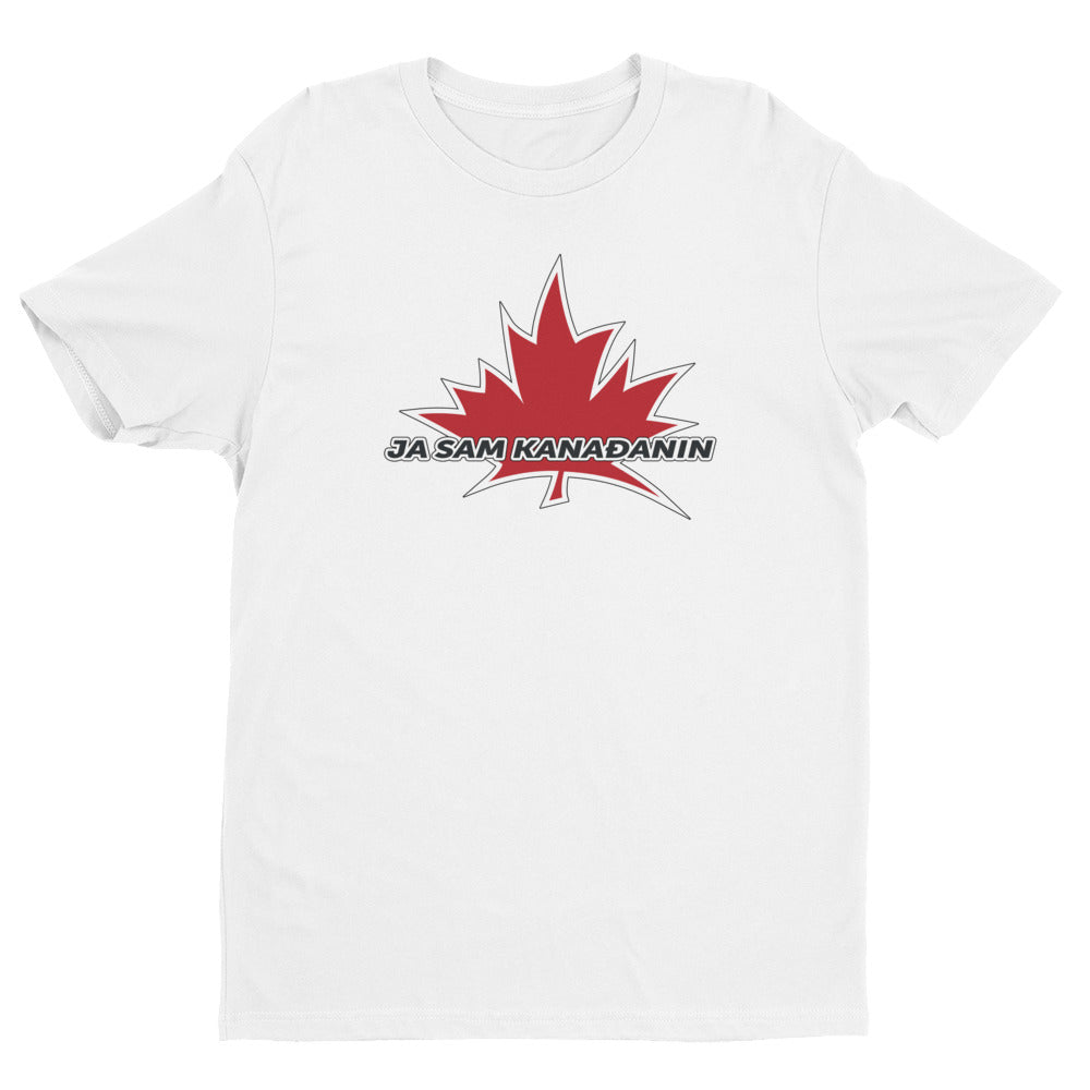 I Am Canadian' 'ja sam Kanađanin' - Premium Fitted Short Sleeve Crew (Croatian), Shirt, I Am Canadian - MerchHeaven.com