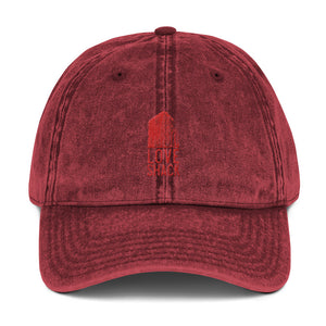 Love Shack Libations - Red Embroidered - Vintage Cotton Twill Otto Cap, Hat, Love Shack Libations - MerchHeaven.com
