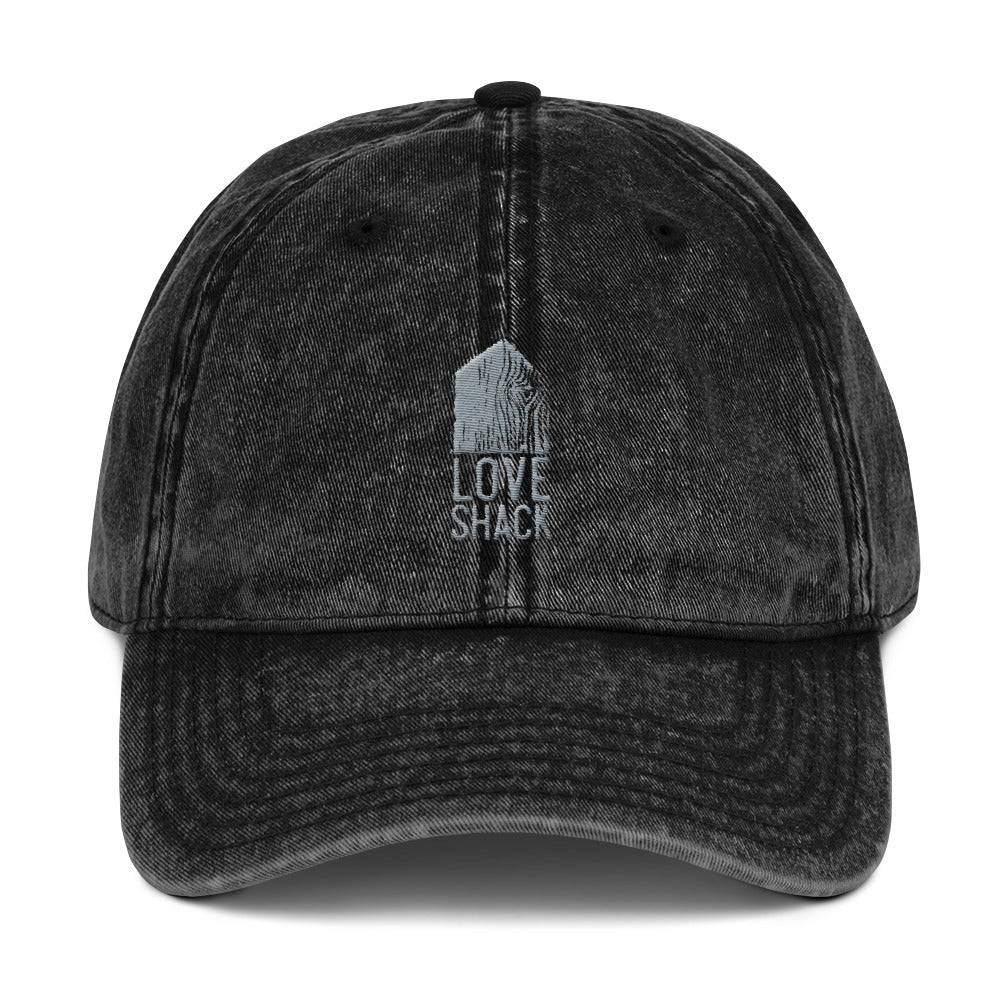 Love Shack Libations - Grey Embroidered - Vintage Cotton Twill Otto Cap, Hat, Love Shack Libations - MerchHeaven.com