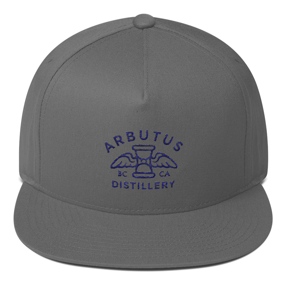 Arbutus Distillery - Blue Embroidered - Yupoong 6007 Five-Panel Flat Bill Cap, [product_type], Arbutus Distillery - MerchHeaven.com