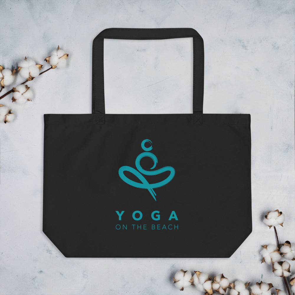 Yoga on the Beach (YOTB) - Large organic ECO  tote bag, Bag, YOGA on the Beach - MerchHeaven.com