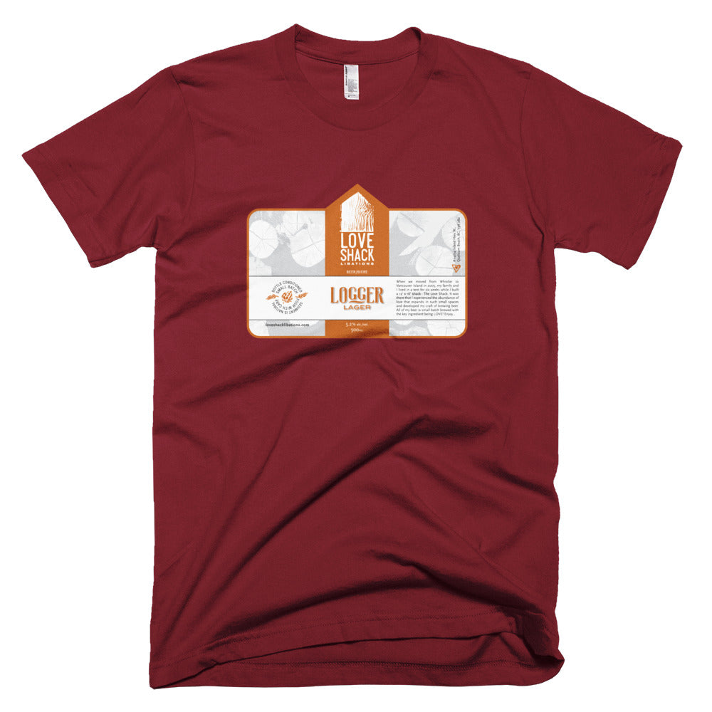 Shirt - Love Shack Libations - Cranberry / XS - MerchHeaven.com merchandise and Branding