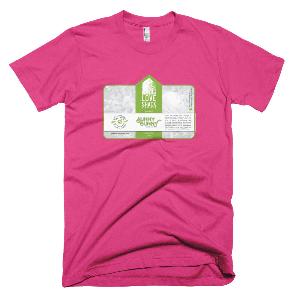 Love Shack Libations - Sunny Bunny Label Shirt - American Apparel 2001 T-Shirt, Shirt, Love Shack Libations - MerchHeaven.com
