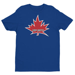 I Am Canadian' ' אני קנדי ' - Premium Fitted Short Sleeve Crew (Hebrew - male), [product_type], I Am Canadian - MerchHeaven.com
