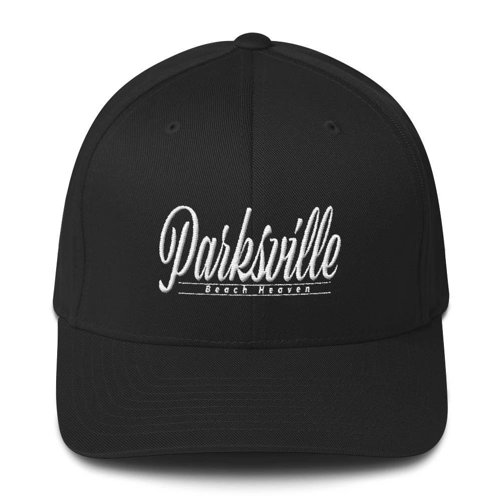 Parksville - Beach Heaven - Flexfit Structured Twill Baseball Cap, [product_type], MerchHeaven - MerchHeaven.com