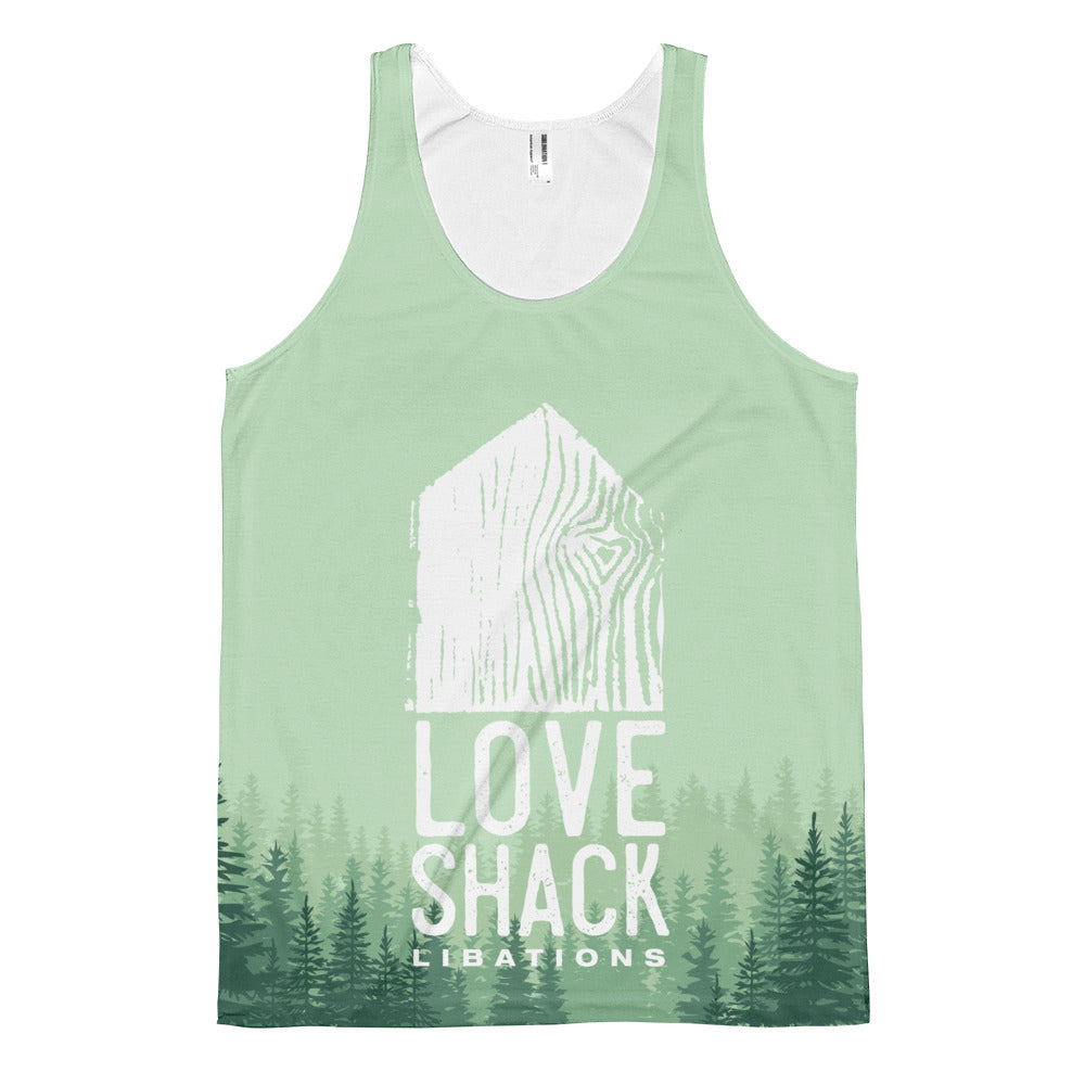 Love Shack Libations - Forest & Mountain Green - classic fit tank top, Shirt, Love Shack Libations - MerchHeaven.com