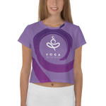 Yoga on the Beach (YOTB) - Purple - All-Over Print Crop Tee, Shirt, YOGA on the Beach - MerchHeaven.com