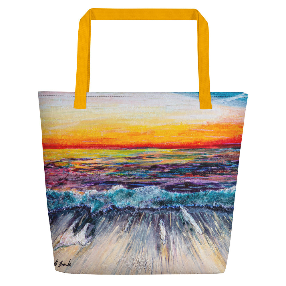'All Creation Sings' Deluxe Beach Bag, Bag, Michelle Manke - MerchHeaven.com