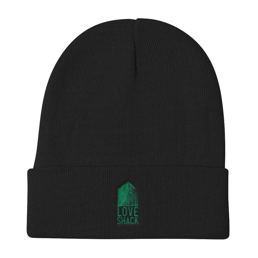 Love Shack Libations - Green Logo - Otto Cap Knit Beanie, Hat, Love Shack Libations - MerchHeaven.com