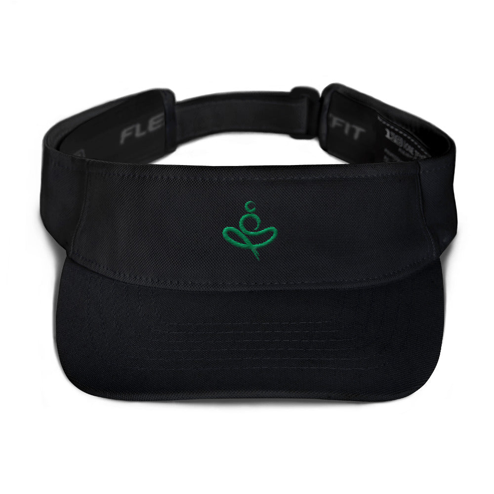 Yoga on the Beach (YOTB) Visor - Kelly Green Embroidery, Visor, YOGA on the Beach - MerchHeaven.com
