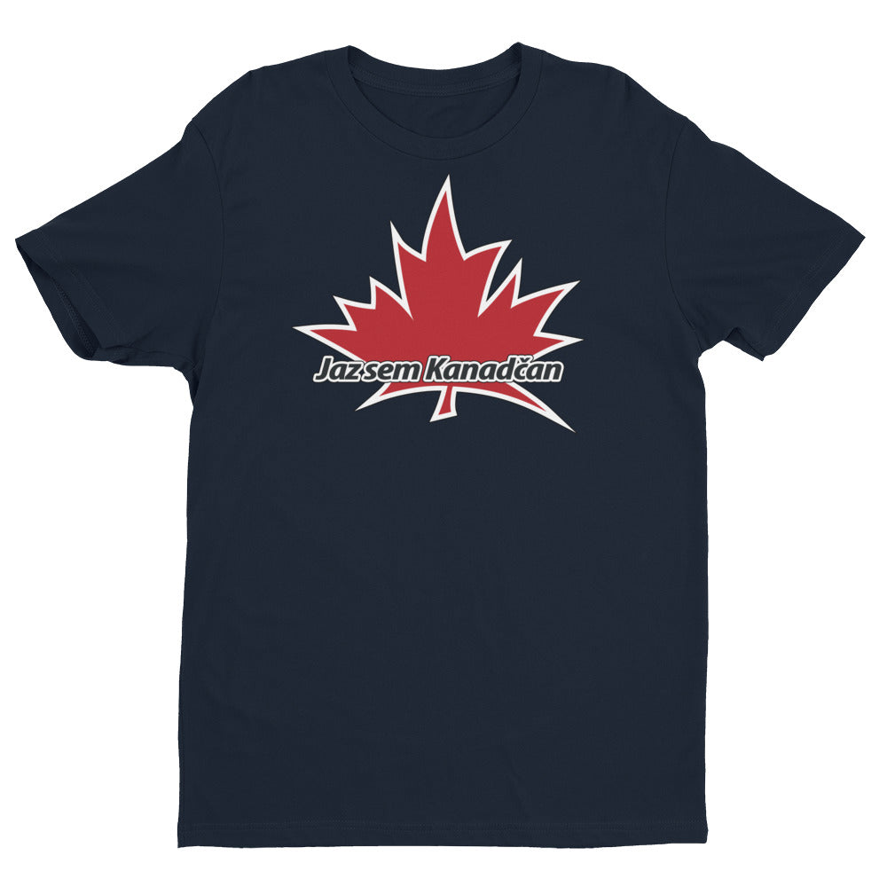 I Am Canadian' 'Jaz sem Kanadčan' - Premium Fitted Short Sleeve Crew (Slovenian), Shirt, I Am Canadian - MerchHeaven.com